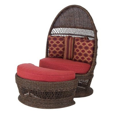 outdoor wicker egg chair photo - 4