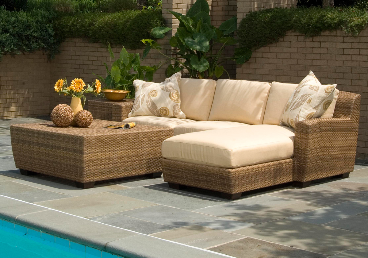 outdoor wicker furniture photo - 2
