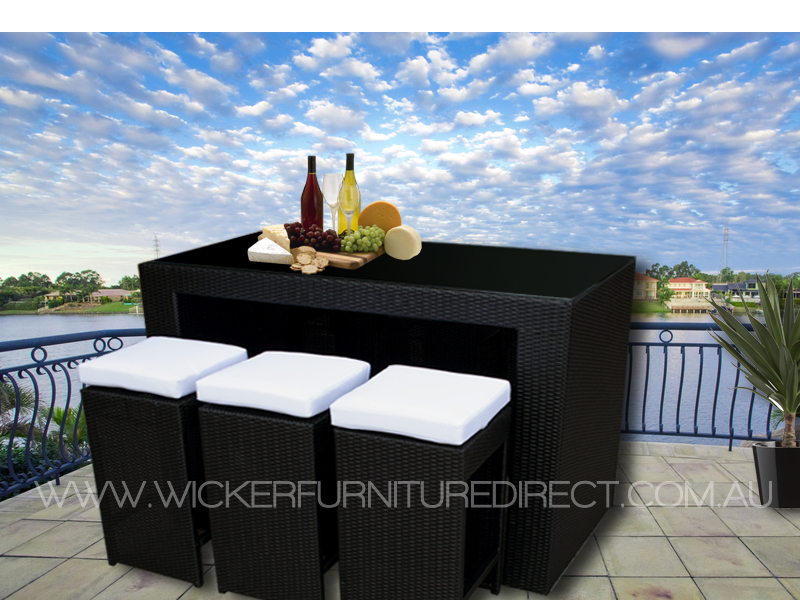outdoor wicker furniture black photo - 1