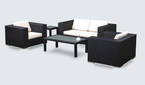 outdoor wicker furniture black photo - 2