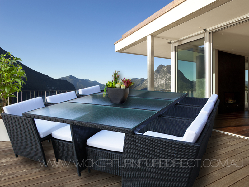 outdoor wicker furniture black photo - 4