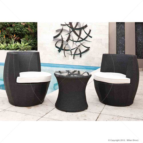 outdoor wicker furniture black photo - 6