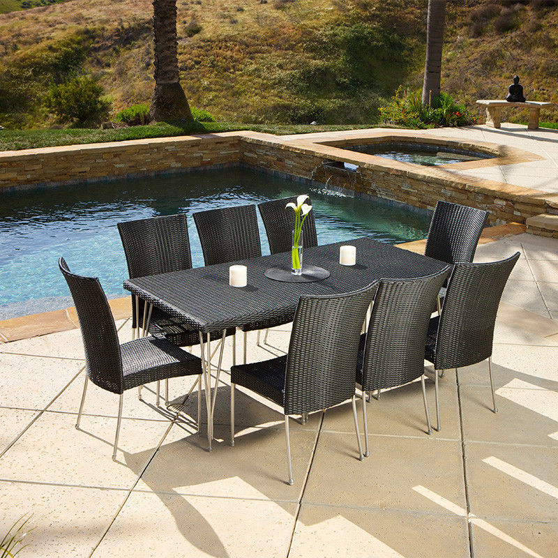 outdoor wicker furniture dining sets photo - 2