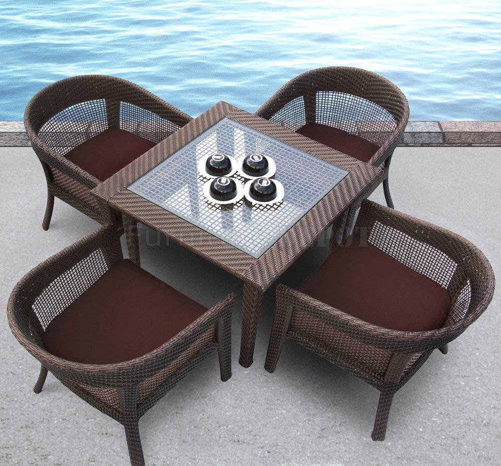 outdoor wicker furniture dining sets photo - 5