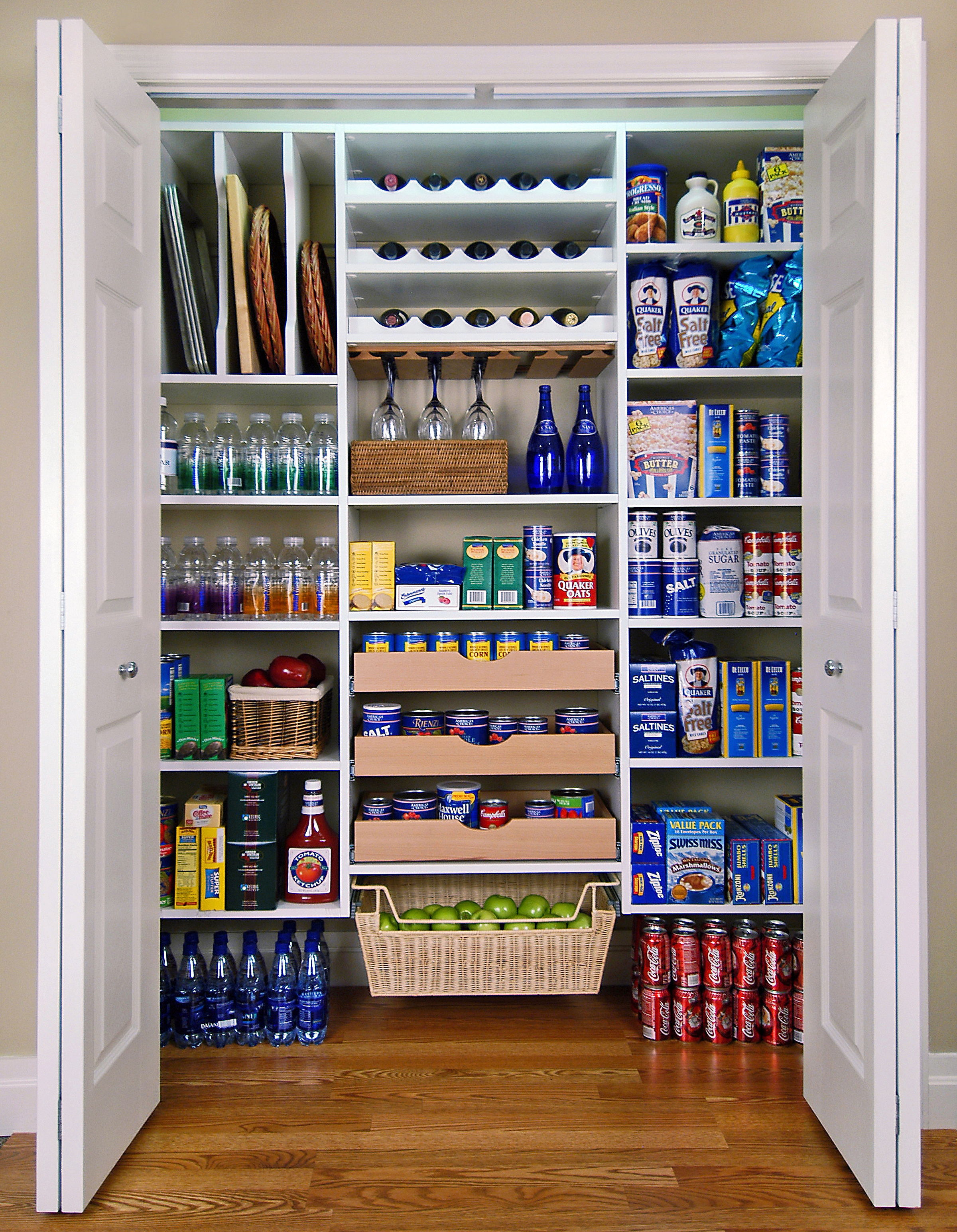 pantry shelving systems wood photo - 1