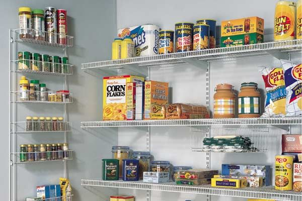 pantry wall shelving systems photo - 5