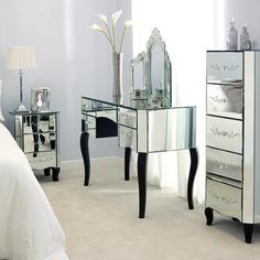 parisian mirrored bedroom furniture photo - 2