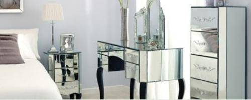 parisian mirrored bedroom furniture photo - 4