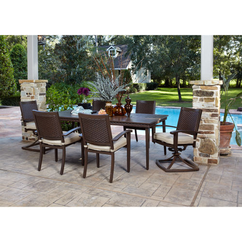patio dining sets 7 piece photo - 2