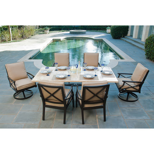 patio dining sets 7 piece photo - 3