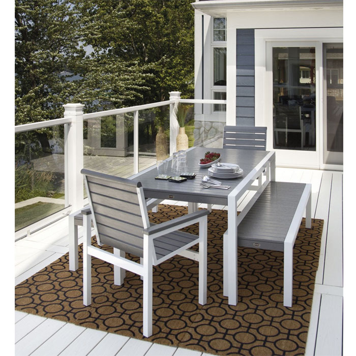 patio dining sets bench photo - 2