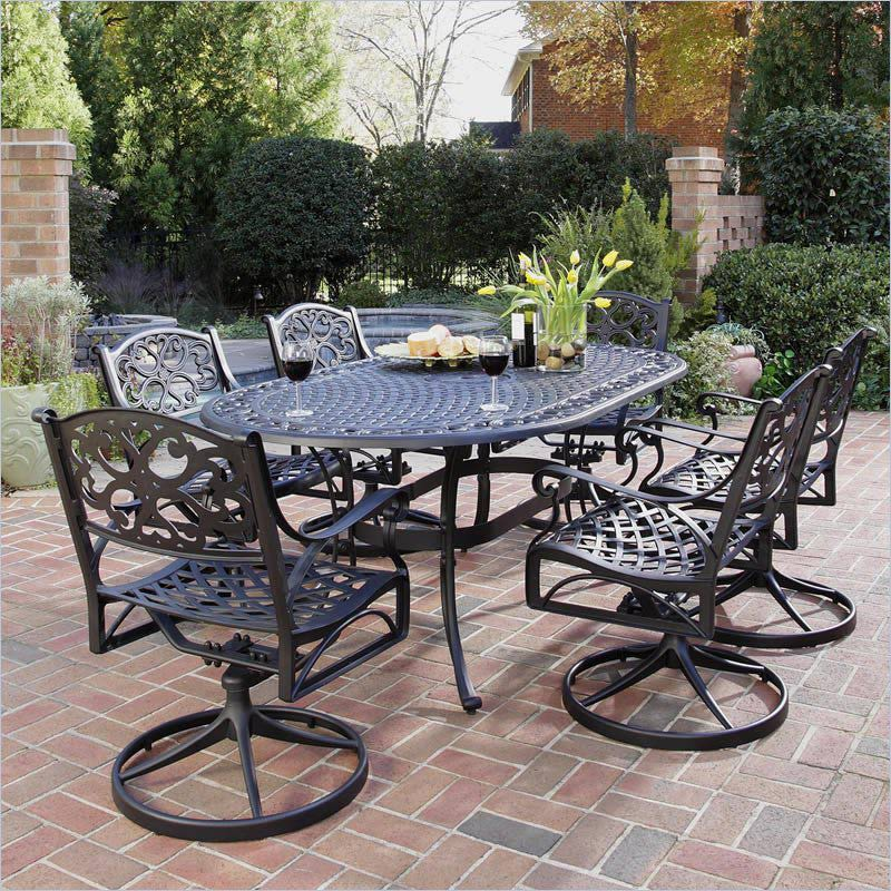 patio dining sets black photo - 3