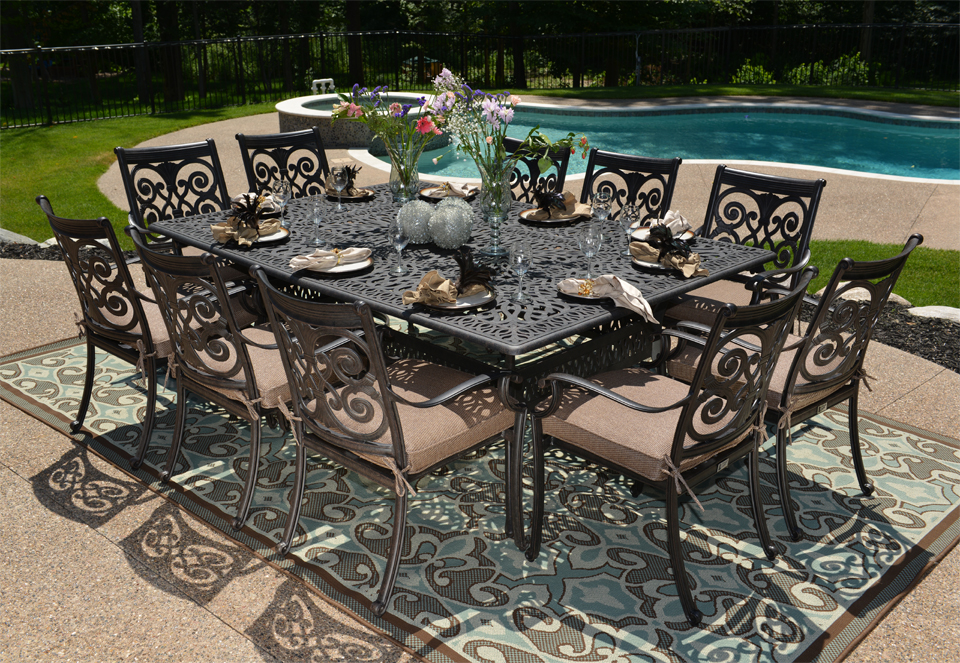 patio dining sets for 10 photo - 2