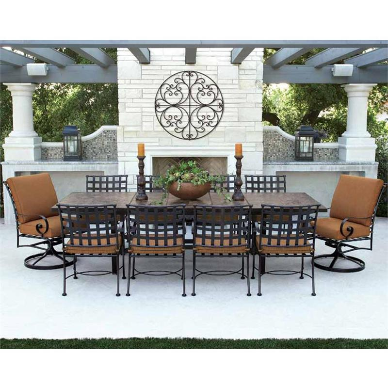 patio dining sets for 10 photo - 3