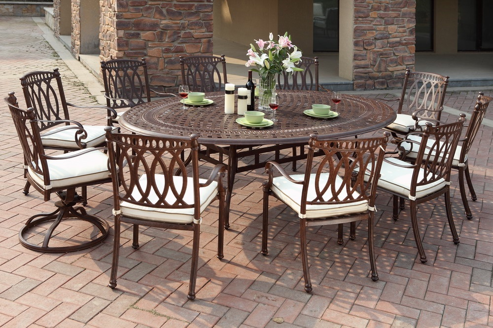 patio dining sets for 10 photo - 5