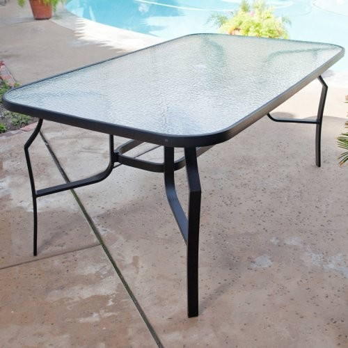 patio dining table glass photo - 3