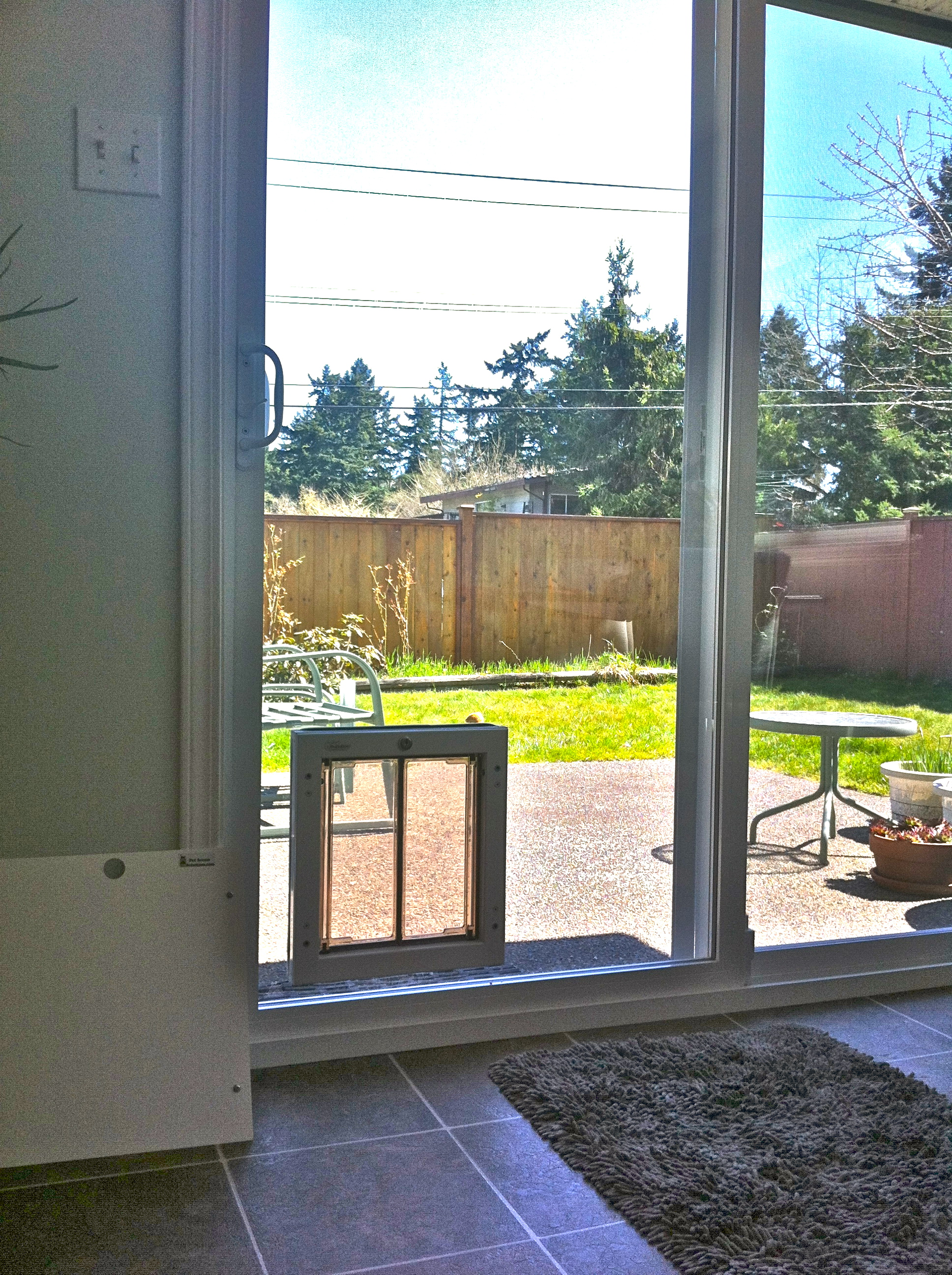 Patio Dog Door Photo   8