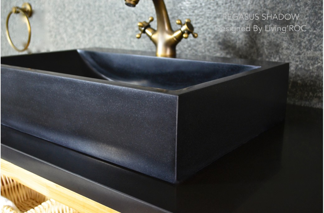 pegasus black granite sink photo - 1