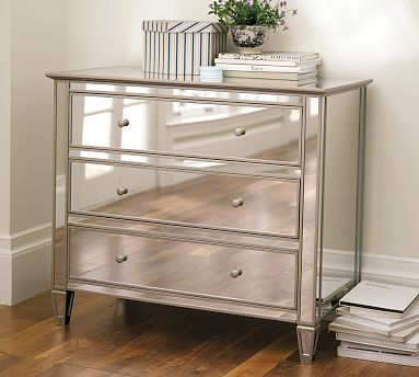 pier 1 mirrored bedroom furniture photo - 2