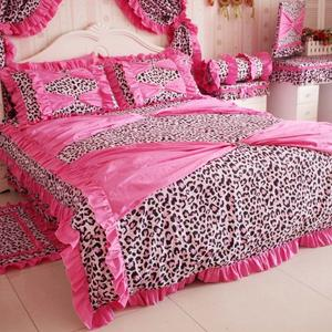 pink cheetah print bedroom set photo - 3