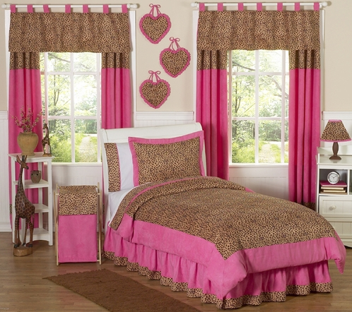 pink cheetah print bedroom set photo - 5