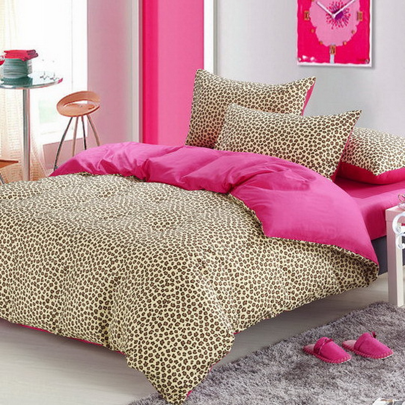 pink cheetah print bedroom set photo - 6