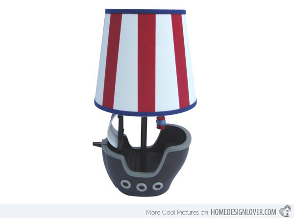 pirate bedroom lamp photo - 1