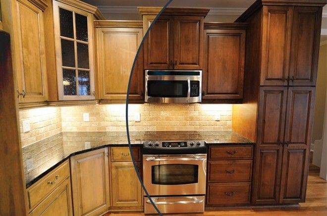 Stained Kitchen Cabinets - cosbelle.com