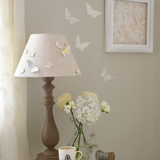 pretty bedroom lamp shades photo - 1