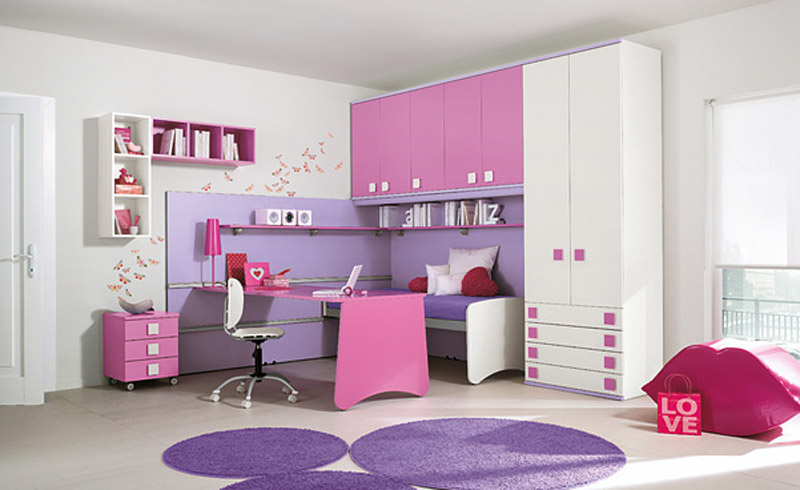 Attractive Purple Bedroom Furniture For Kids