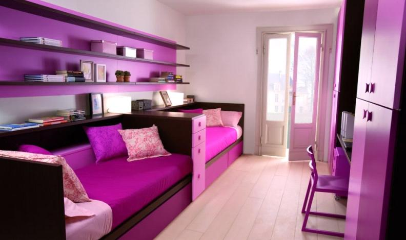 Purple bedroom furniture for kids | Interior & Exterior Doors