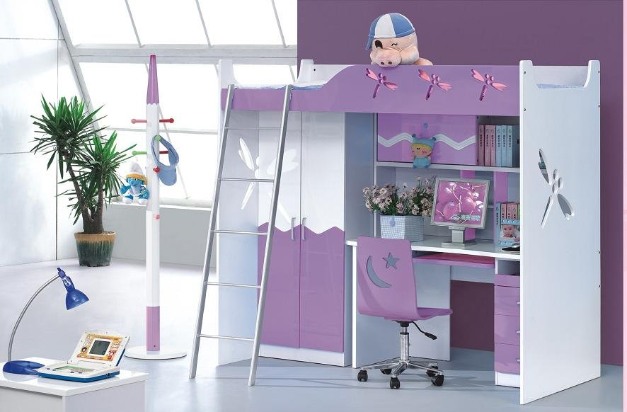 purple bedroom furniture for kids photo - 5