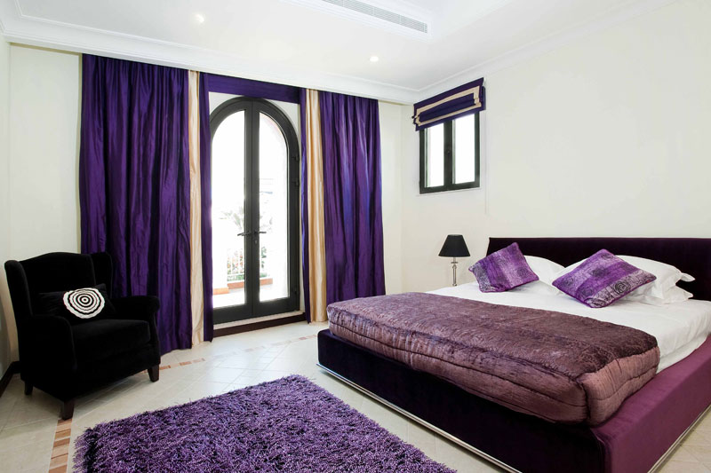purple colored bedrooms photo - 1
