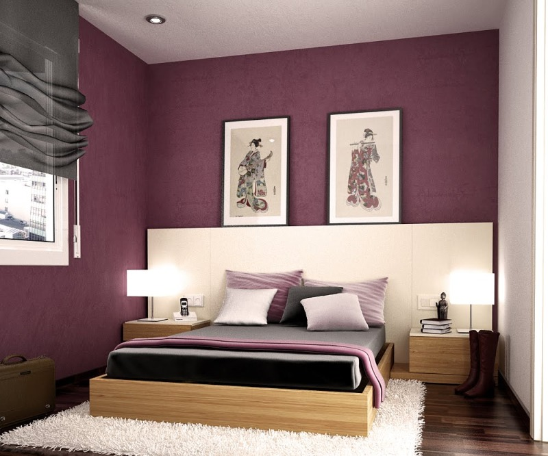 purple colored bedrooms photo - 3