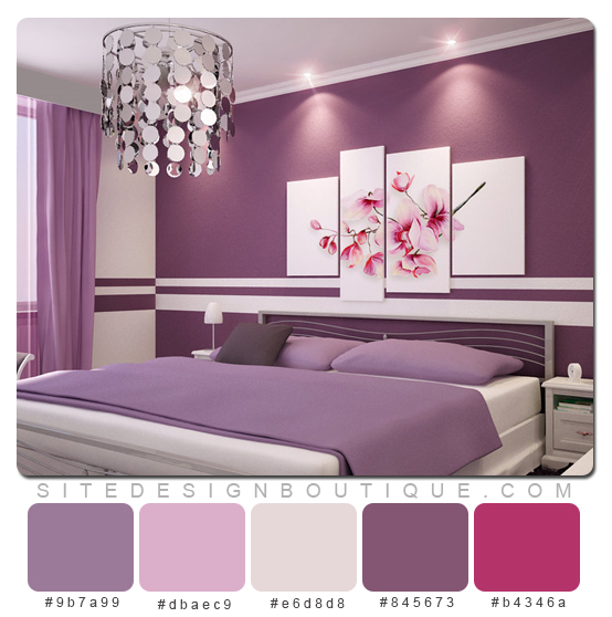 purple colored bedrooms photo - 4