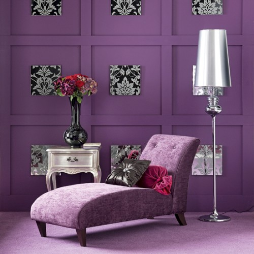 purple colored rooms photo - 1