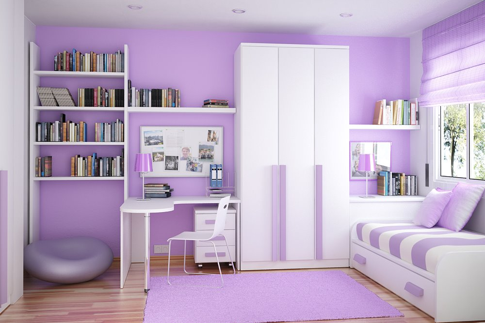 purple colored rooms photo - 3