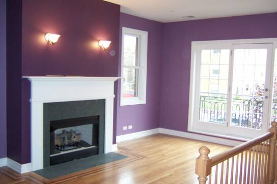 purple painted rooms photo - 1