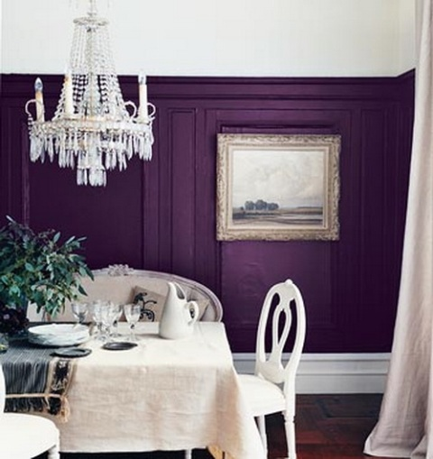 purple painted rooms photo - 2
