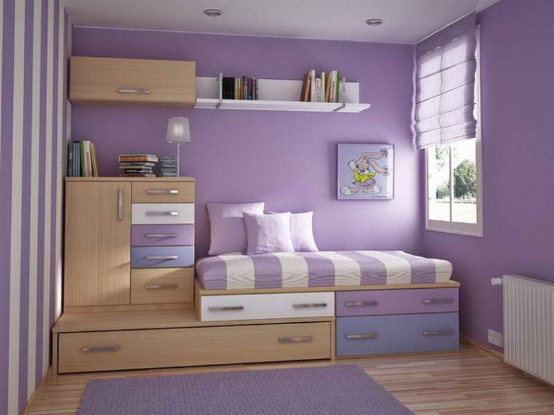 purple painted rooms photo - 3
