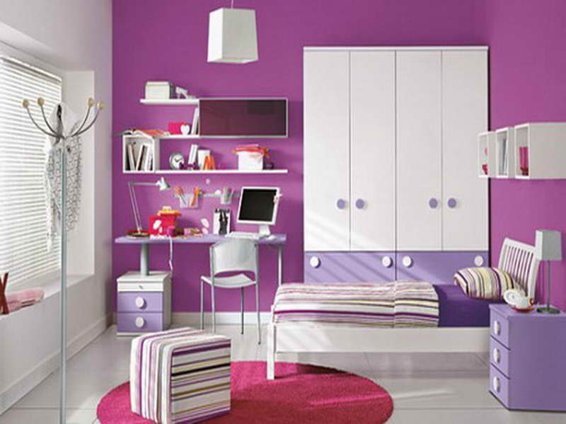 purple painted rooms photo - 6
