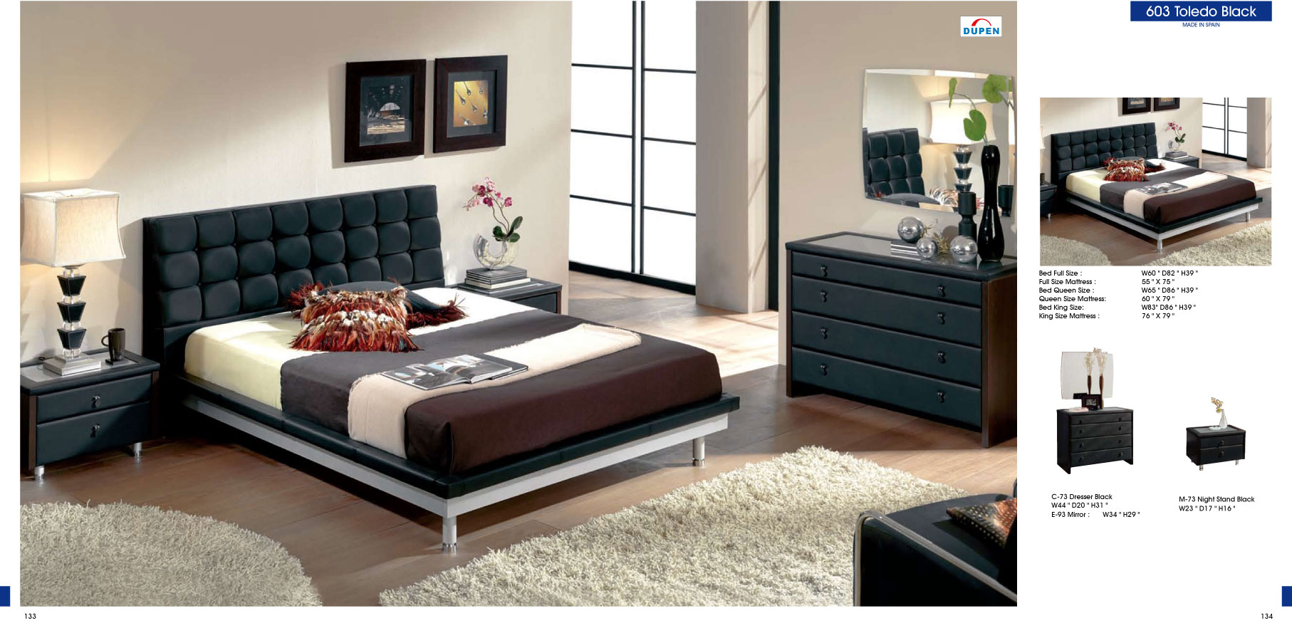 quality black bedroom furniture photo - 3