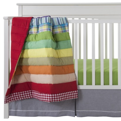 rainbow baby bedding photo - 2