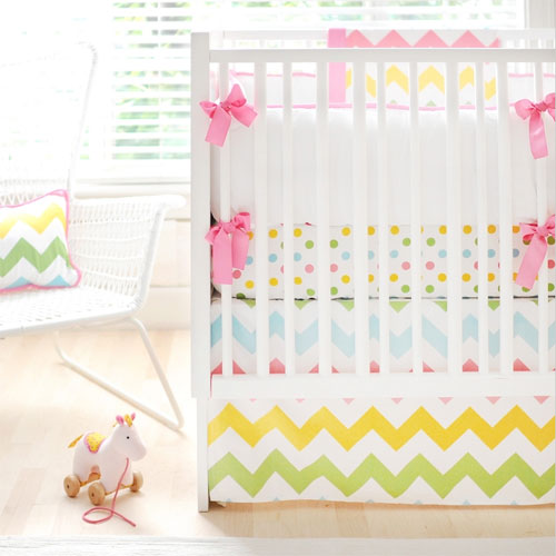 rainbow baby bedding photo - 3