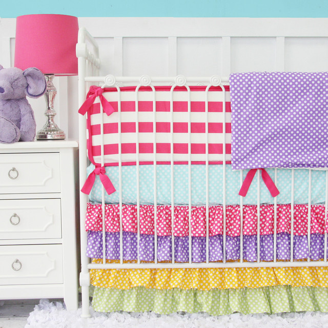 rainbow baby bedding photo - 6
