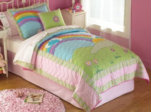 rainbow bedding for kids photo - 1