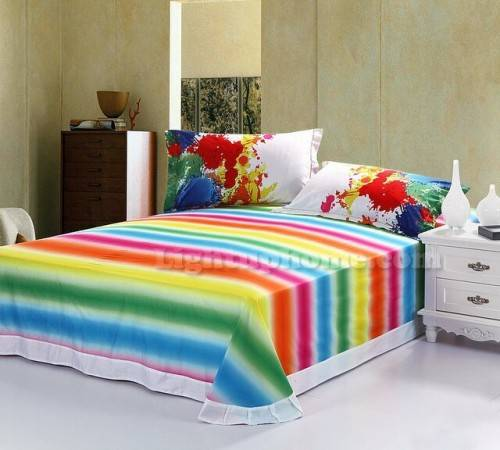 rainbow bedding for kids photo - 2