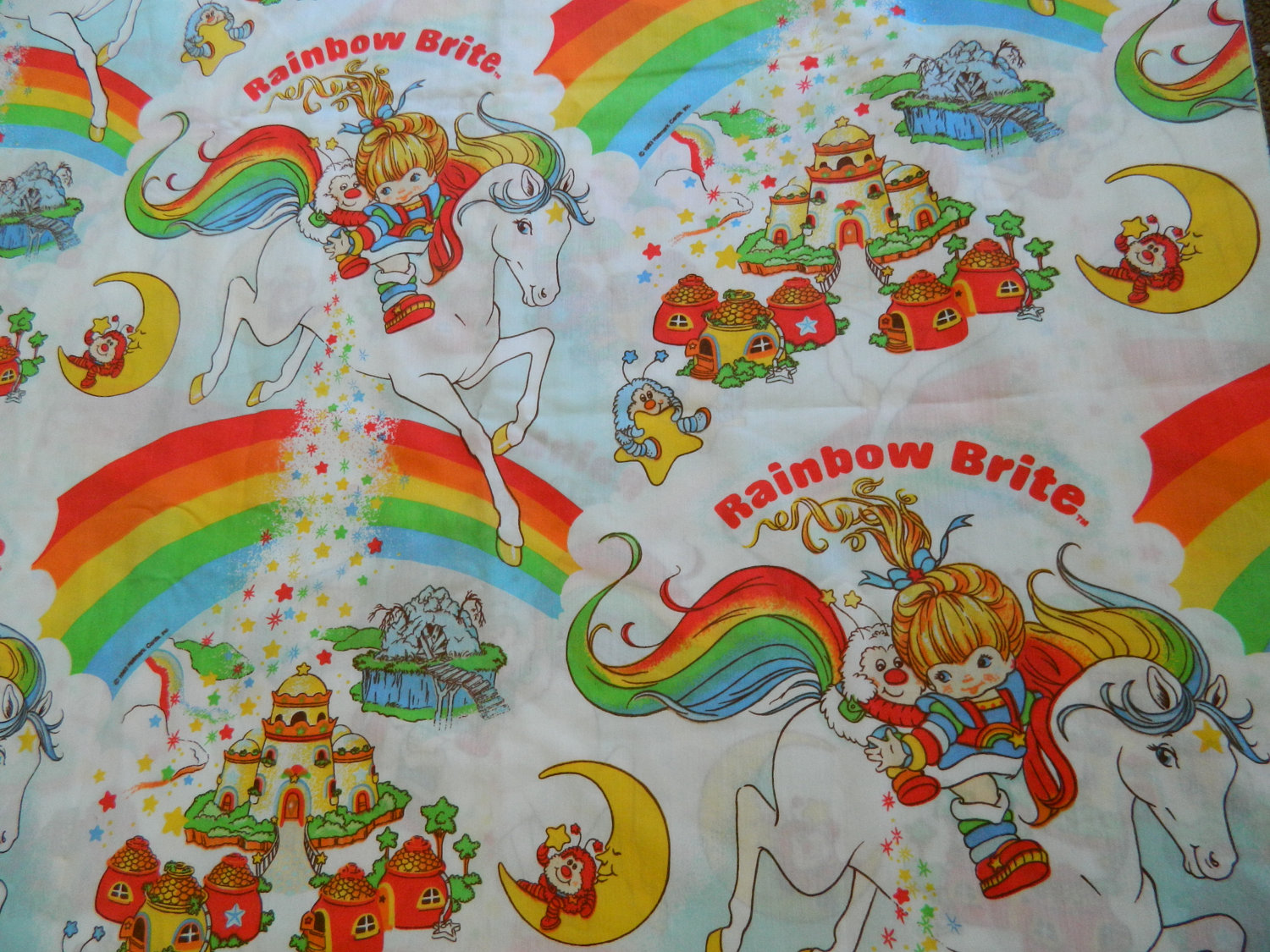 rainbow bright bedding photo - 5
