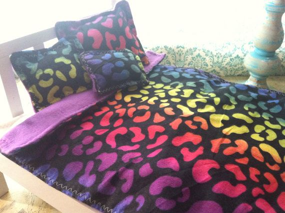 rainbow cheetah bedding photo - 4