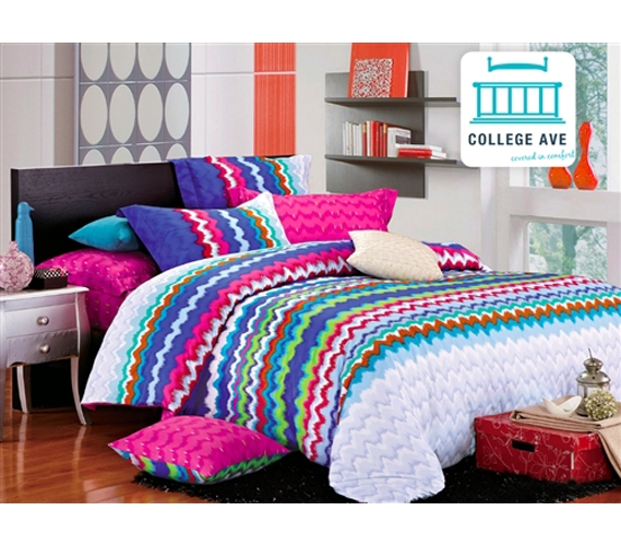 rainbow dorm bedding photo - 2